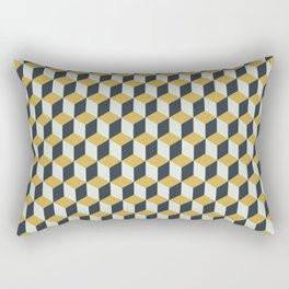 Making Marks Cube Illusion Blue Rectangular Pillow