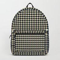 Making Marks Dots Navy/Mustard/Grey Backpack