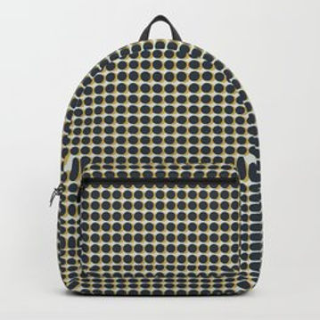 Making Marks Dots Navy/Mustard/Grey Backpack