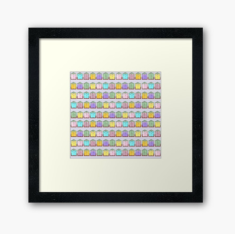 Beach Hut Framed Art Print