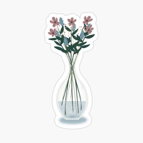 Spring Vase Sticker