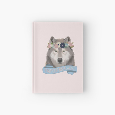 Floral Wolf - Find Your Inner Wolf Hardcover Journal