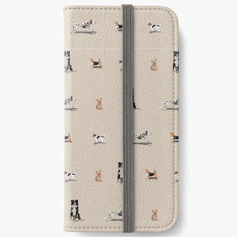 Dog Print iPhone Wallet