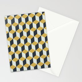 Making Marks Cube Illusion Blue Stationery Card