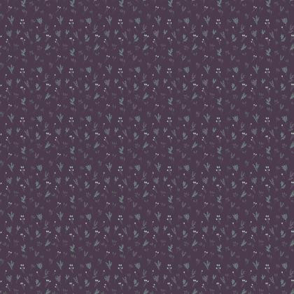 Purple Floral Branches Fabric