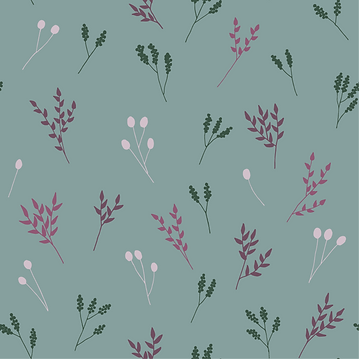 Light Blue Floral Branches