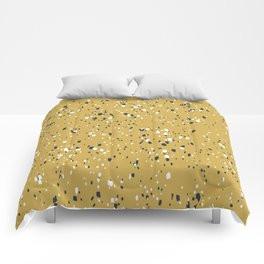 Making Marks Splatter Mustard Comforter