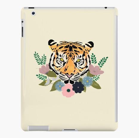 Floral Tiger iPad Snap Case