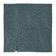 Teal Floral Branches #2 Blanket