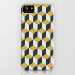 Making Marks Cube Illusion Blue iPhone Case
