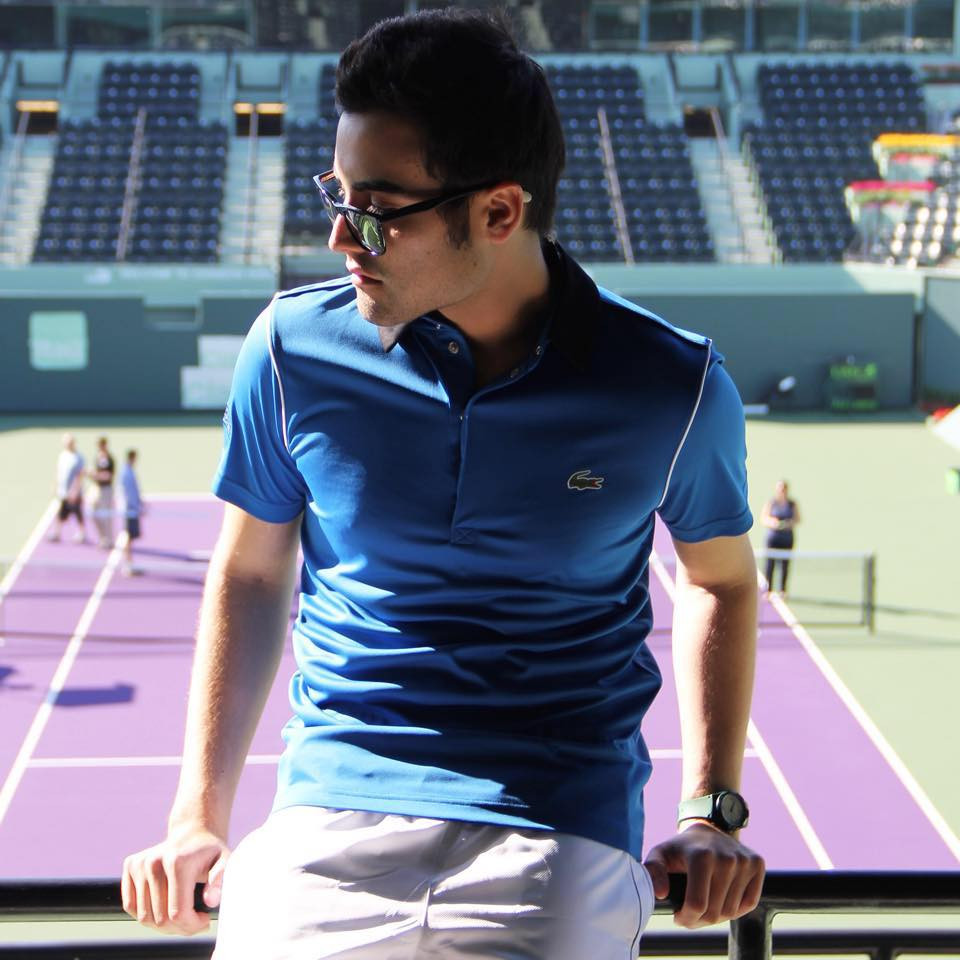 Blogger Juanjose Rangel for Lacoste The Official Miami Open Outfitter