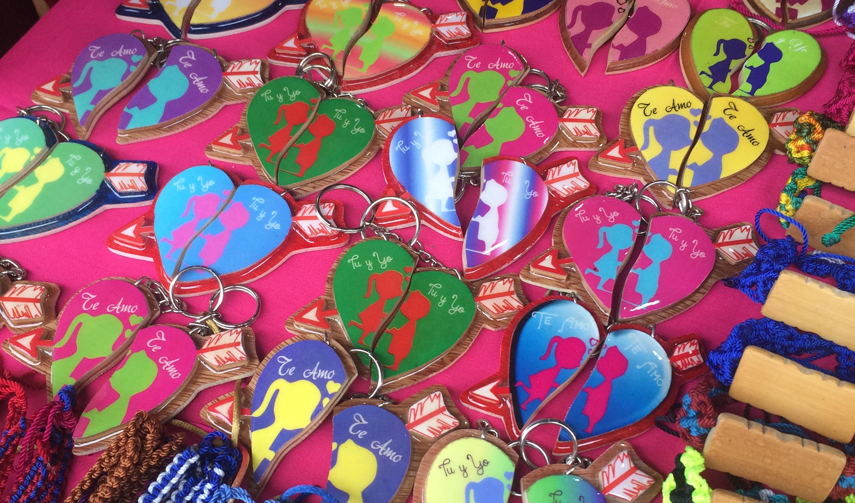 Artisan key chains in Masaya