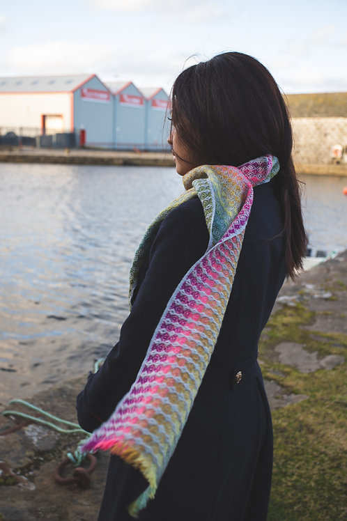 Honey Scarf - Coral