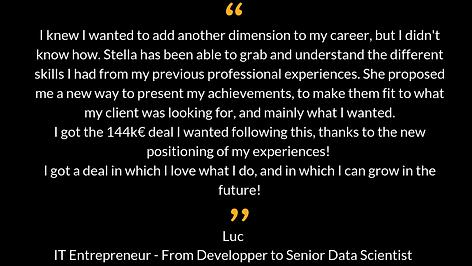 Stella Bida - From Developper to Senior