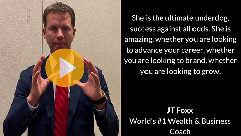 JT Foxx Worlds #1 Wealth coach endorses