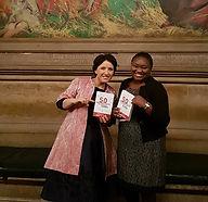 Stella Bida -With Mirela Sula, Editor in Chief of Global Woman Magazine