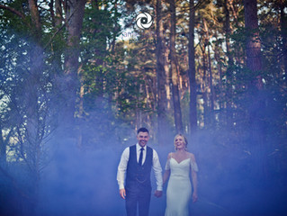 The First One Back!  Becca and Sam's Woodhill Hall Wedding