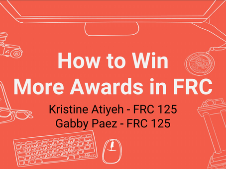 How To Win More Award in FRC