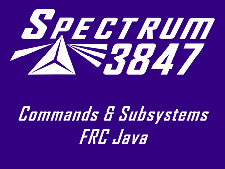 Commands and Subsystems: FRC Java