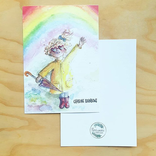 'Chasing rainbows' Mini poster A5