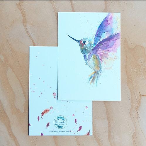 'Hummingbird' Ansichtkaart A6
