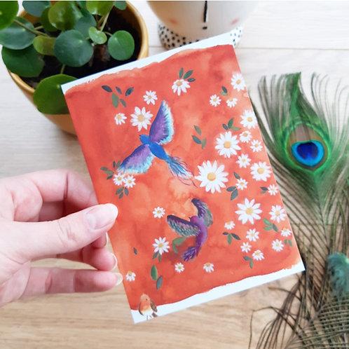 'Birds & daisys' Ansichtkaart A6