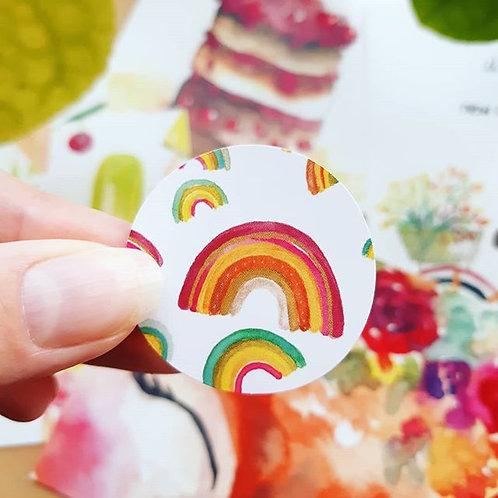 'Regenbogen' Sticker rond per 4 stuks