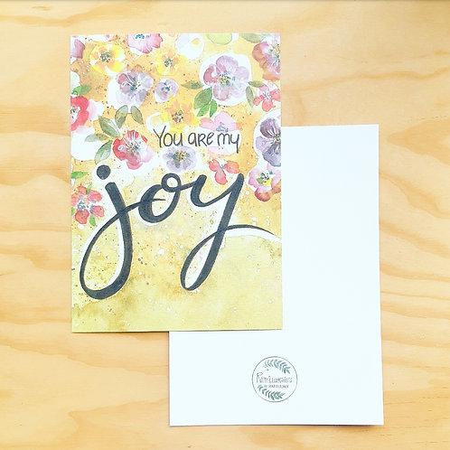'Joy' Mini poster A5