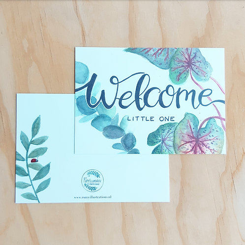 'Welcome little one' Ansichtkaart A6