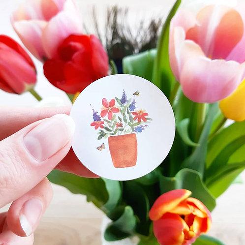 'Bloemen' sticker per set van 10 stuks