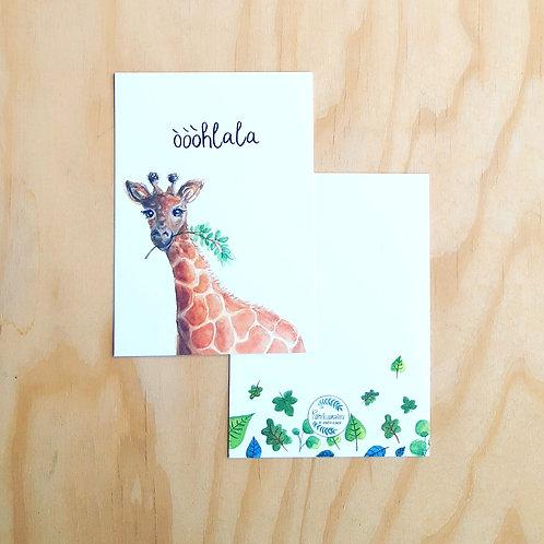 'Giraffe òòòhlala' Ansichtkaart A6