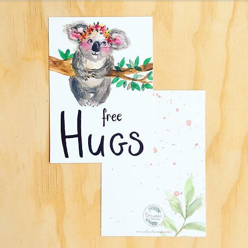 'Cute Koala' Ansichtkaart A6