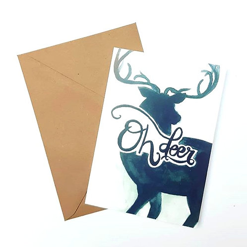 'Oh deer' Gevouwen kaart A6