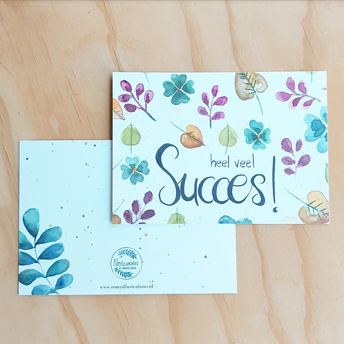 'Floral succes' Ansichtkaart A6