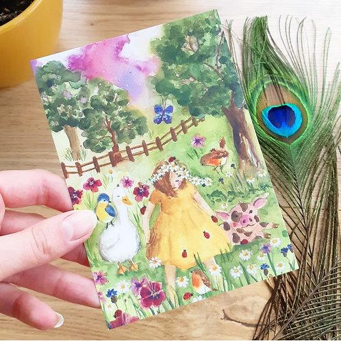 'Little daisy' Ansichtkaart A6