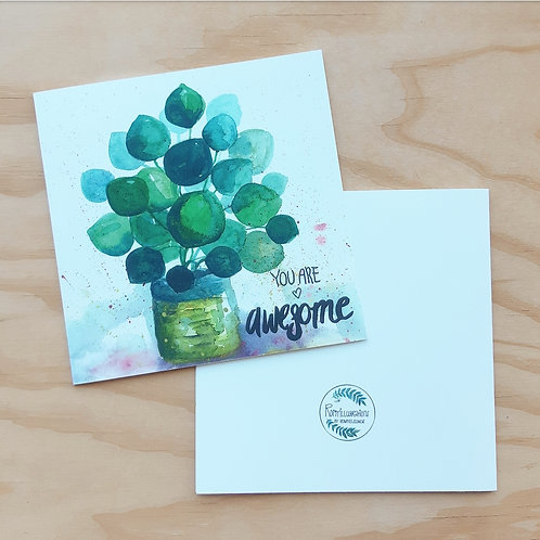 'You are awesome' Gevouwen kaart vierkant