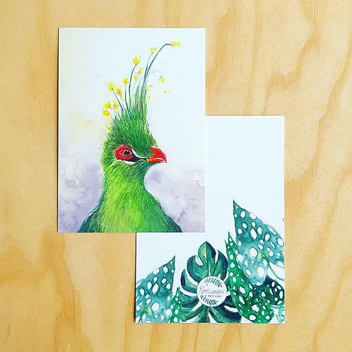 'Exotic bird' Ansichtkaart A6