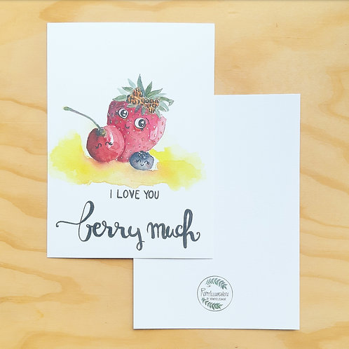 'Berry love' Mini poster A5