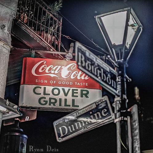 D1C3 Dot- Clover Grill Sign