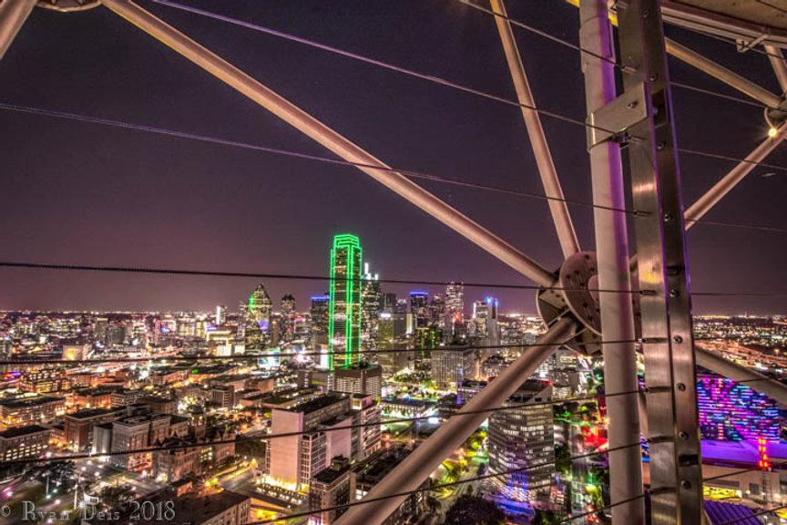Dallas, Big D, Reunion Tower, Night, Bank of America Plaza, Downtown Dallas, Uptown Dallas.