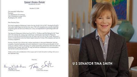 Senator Tina Smith Minnesota USA Expo 20