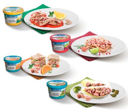 Packaging e ricette Mareblu LeDelì