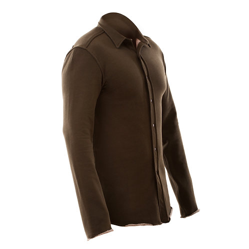 Double Sided Fleece Shirt - Olive
