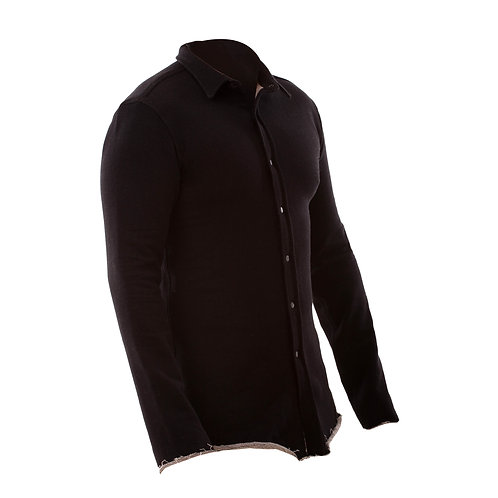 Double Sided Fleece Shirt - Black