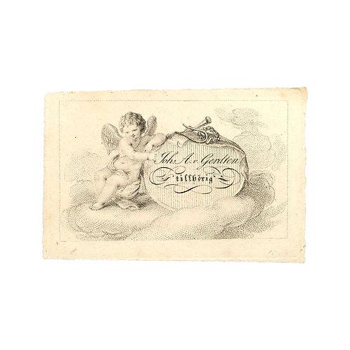 Exlibris för J. A. v. Gerdten (1767-1835)