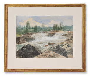 Josef Wilhelm Wallander (1821-1888) - Åkvissleforsen, Ångermanälven - (sold)