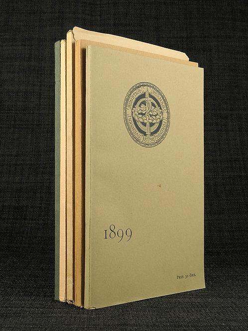 Sv. konstnärernas förening, kataloger för 1899, 1900, 1901, 1902, 1904