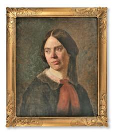 Uno Troili (1815-1875) - Konstnärens hustru Charlotte, född Geijer - (sold)