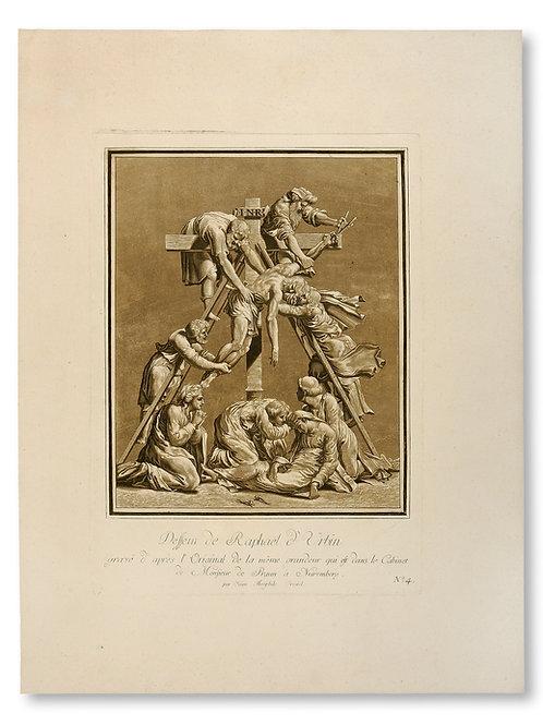 Johann Gottlieb Prestel after Raphael:The Descent from the Cross