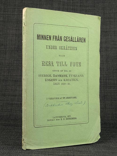 Gesällminnen av en bokbindare, 1873